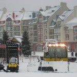 The mountain crews prepare for the coming snow storm